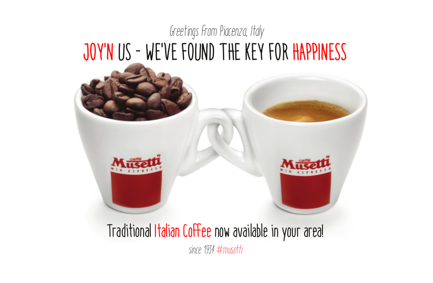 B2b musetti coffee usa for Musetti coffee