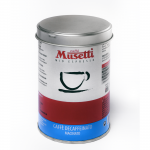 Decaffeinated Coffee by Musetti, 125 g tin