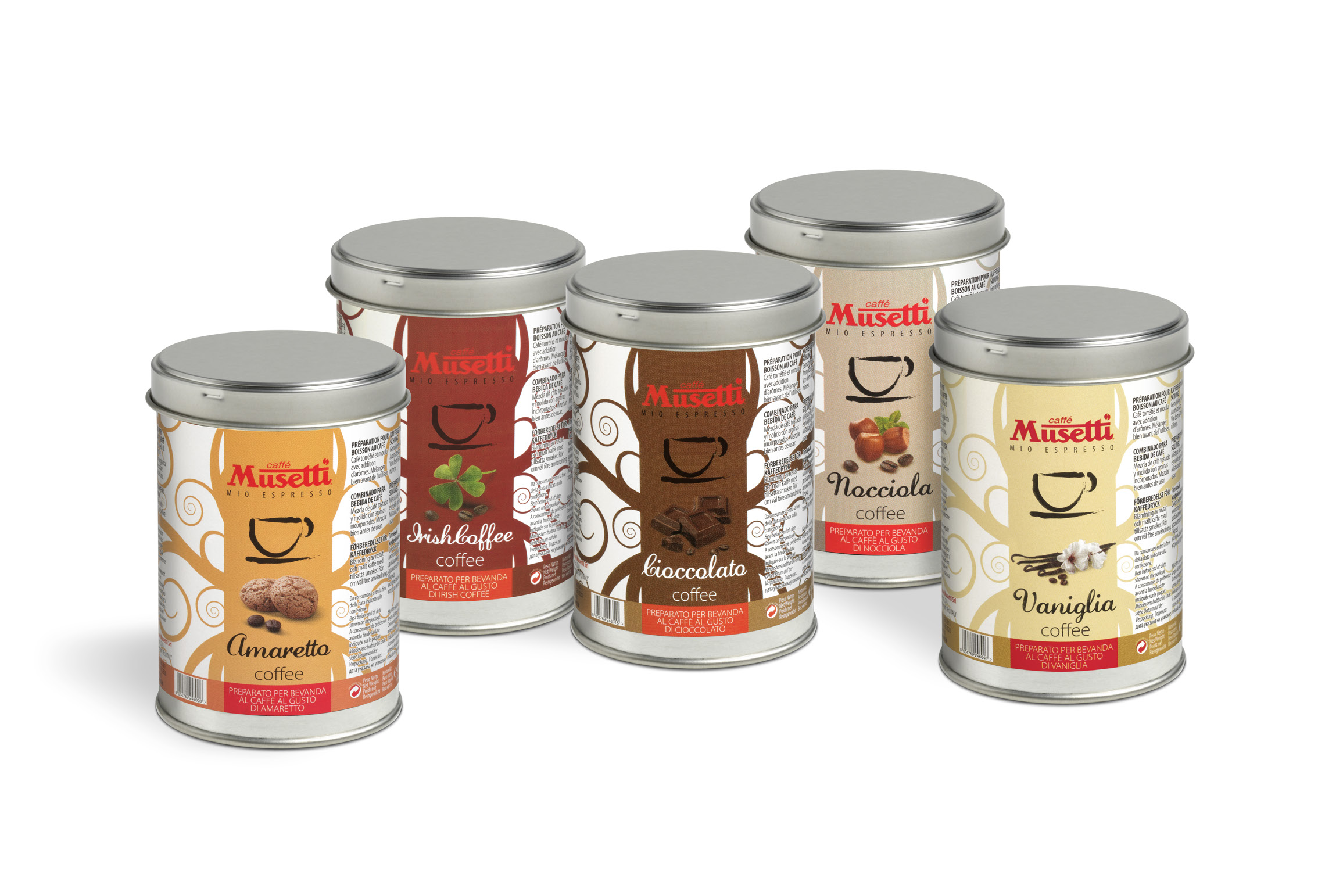 Musetti hazelnut flavoured coffee 125 g 4 4 oz ground for Musetti coffee