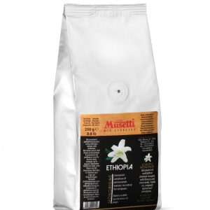 Ethiopia Single Origin Coffee by Musetti, 250 g bag