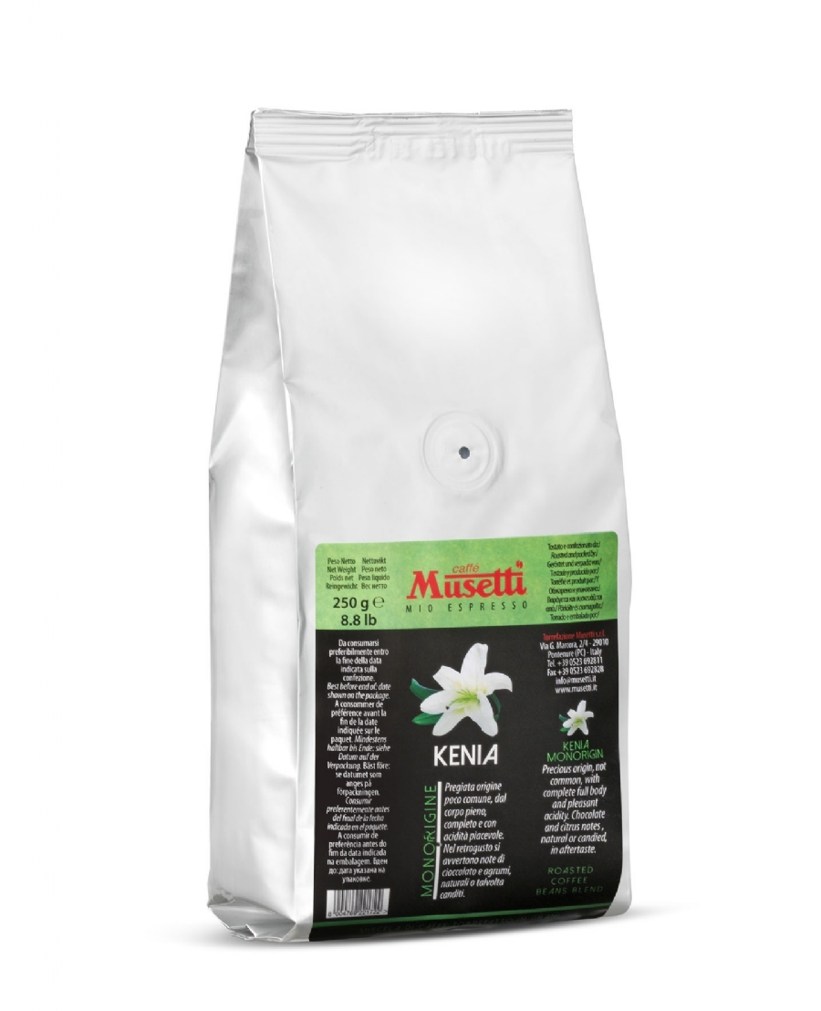 Kenya Single Origin Coffee by Musetti, 250 g bag