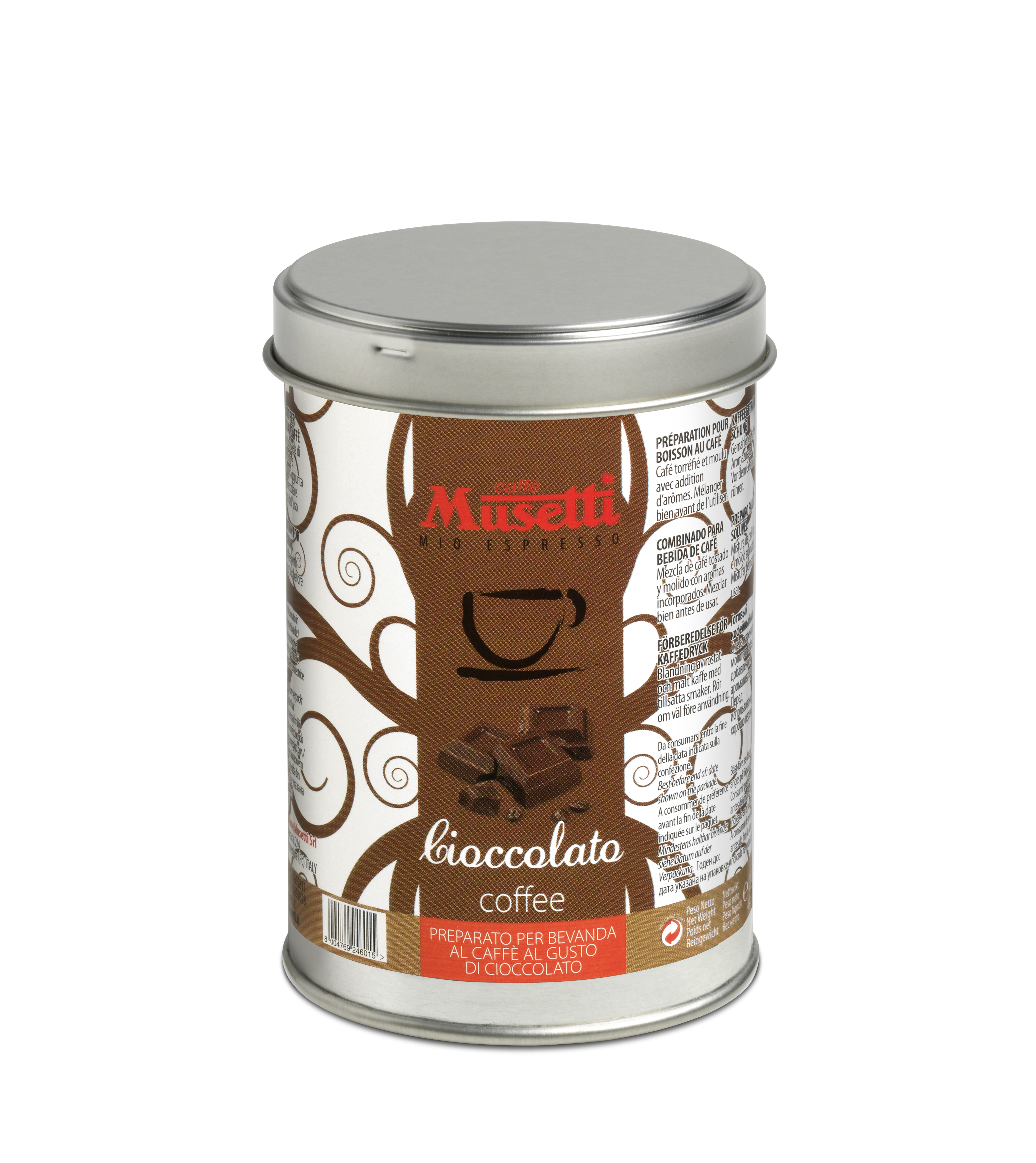 Musetti chocolate flavoured coffee 125 g 4 4 oz ground for Musetti coffee