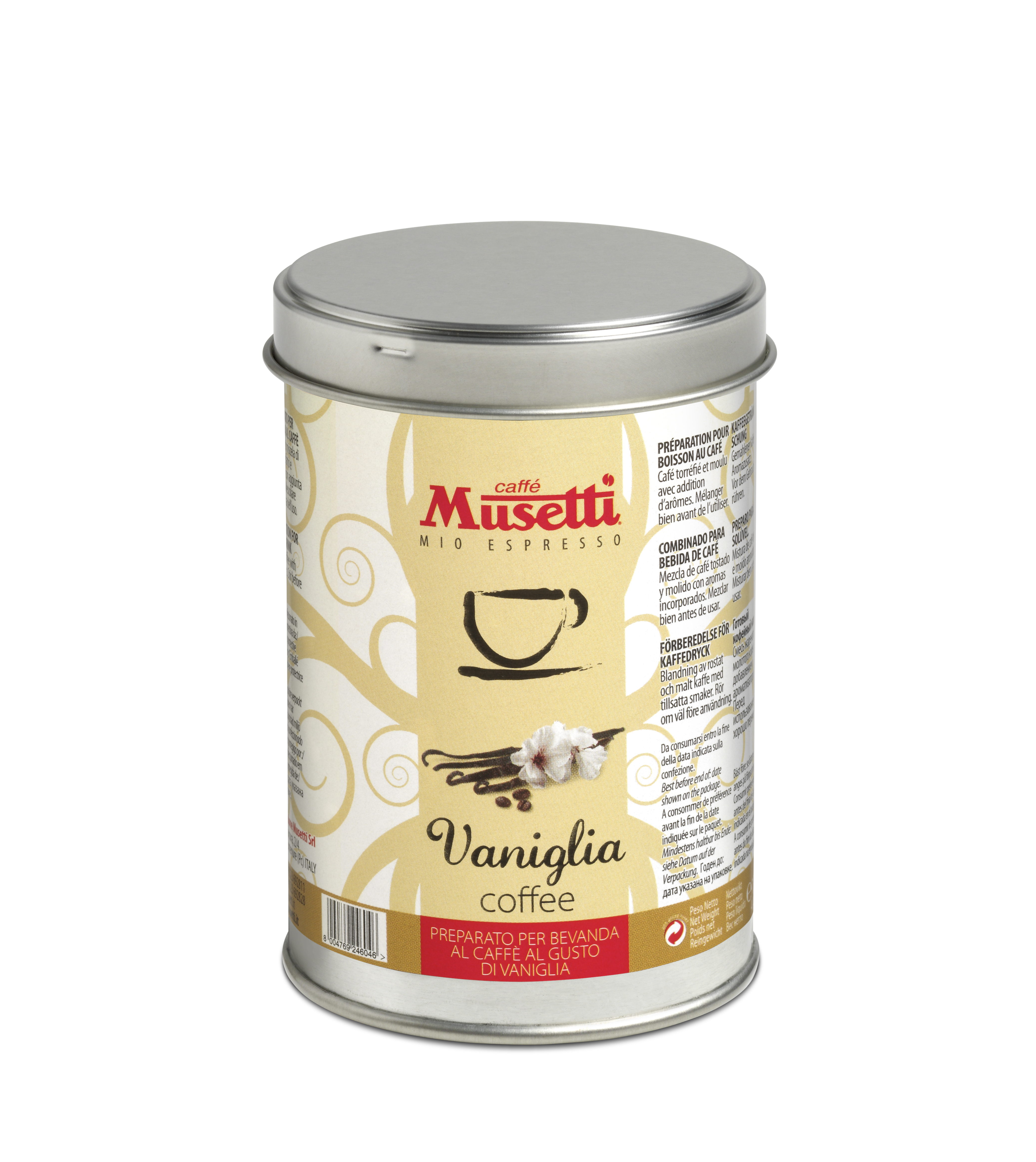 Musetti vanilla flavoured coffee 125 g 4 4 oz ground for Musetti coffee