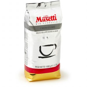 Musetti - Cremissimo · Whole Beans Coffee · 1 kg (2.2 lb) bag - EAN 800476920090