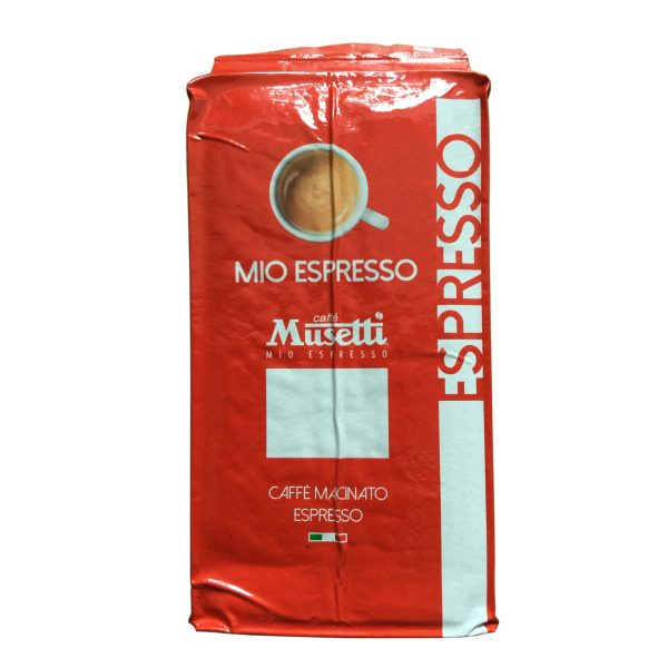 Mio Espresso (Rossa) · Ground Coffee · bag 250 gr (8.8 oz) - Front Flat Real Photo