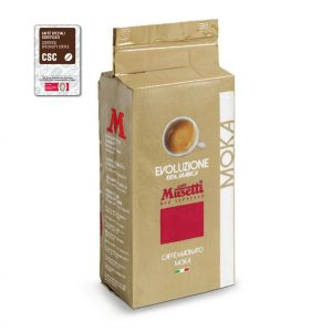 Evoluzione 100% Arabica · Certified Specialty Coffee · 250 g (8.8 oz) Ground for Moka